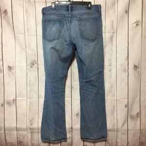 J.Crew Slim Straight Blue Jeans 36x32 Distressed